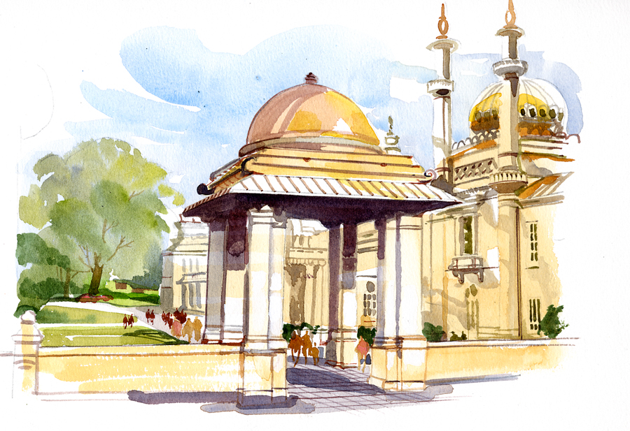 Brighton Castle Royal Pavillion, Brighton Beach