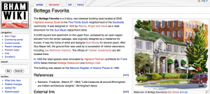 Bham Wiki article on Bottega