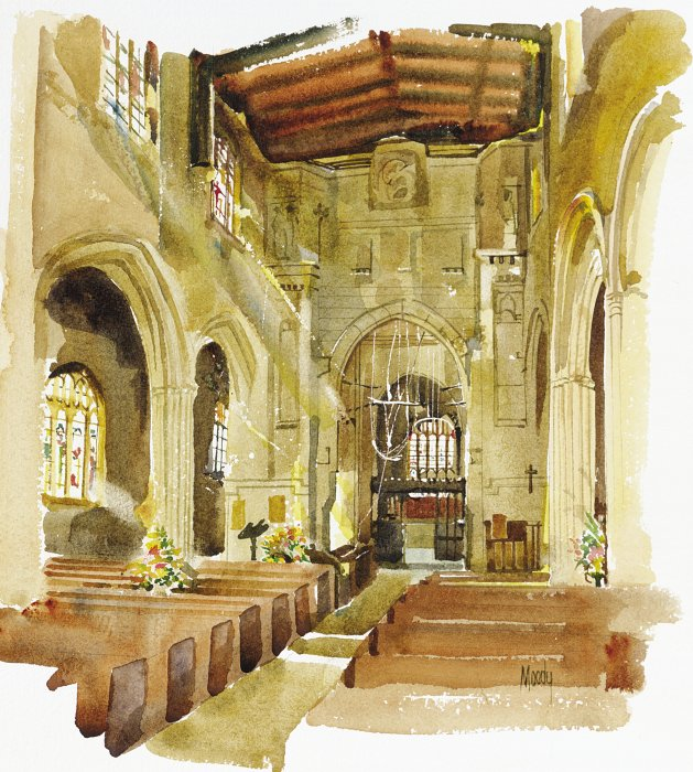 St. Mary\'s of Fairford, Interior